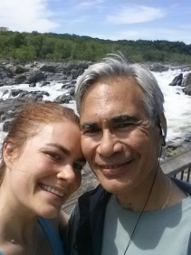 Hiking at Great Falls with my dad