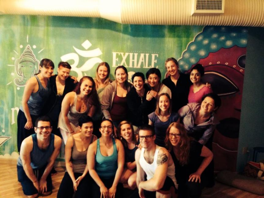 The Grinning Yogi Teacher Trainees