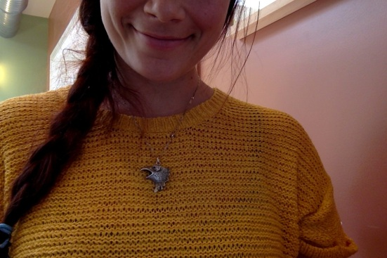 My antique German Raven necklace has already made me rather popular with the locals....