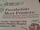 Helpful Hands at Hopkins! Prosthetists Meet Printers #enablethefuture #enable3DPP