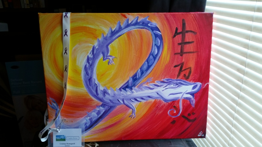 http://www.ebay.com/itm/The-Purple-Ribbon-Dragon-Fundraiser-to-Fight-Pancreatic-Cancer-/331534303741?